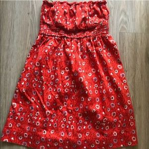 Cute Floral Free People Red Top Sleeveless